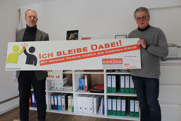 v.l. Axel Kahl (Geschäftsführer TuS Iserlohn), Günther Nülle (KSB MK)