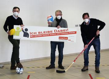 v.l. Paul Ziemiak (Generalsekretär CDU), Günther Nülle (KSB MK), Thorsten Schick (Erster stellv. Bürgermeister Stadt Iserlohn, Mitglied des Lantags)