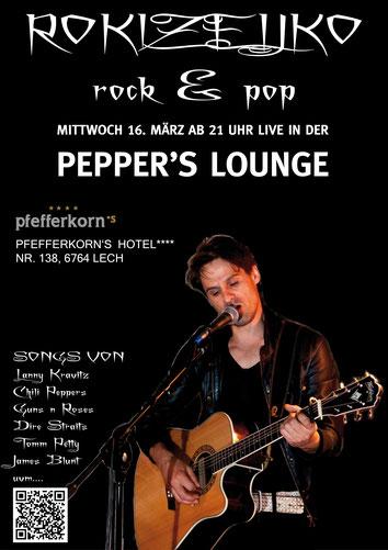ROKIZELJKO spielt Live beim Chillout in der Peppers Loung Hotel Pfefferkorn Lech am Arlberg