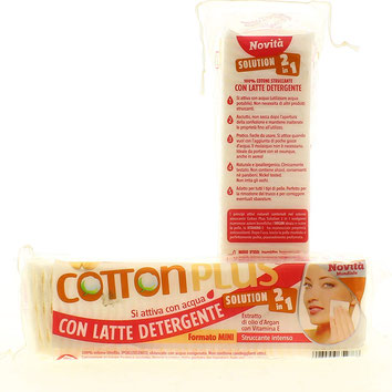 Cotton Plus  2 in 1 mini salvietta struccante asciutta