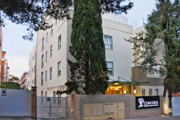 Vista de La fachada de la Residencia Concesol desde la calle Venadito