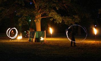 "Feuershow ""Drachenfeuer"" auf dem Jagdschloss Friedrichsmoor"