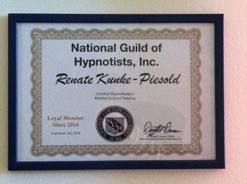 zertifiziert bei der National Guild of Hypnotists (NGH), der weltweit größten und ältesten Hypnosegesellschaft Hypnosegesellschaft