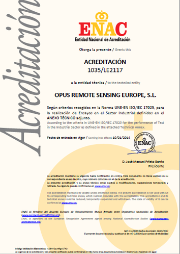 Opus RSE ISO 17025 Accreditation