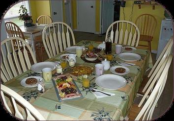 table mise pour le diner