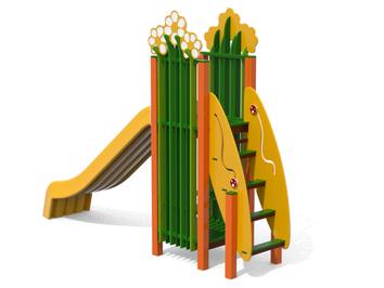 Scivolo Ciuffo, giochi per parco, giochi per parchi, attrezzature per parchi gioco, strutture ludiche Stileurbano Ciuffo Baobab certificati Norma EN1176 CATAS stileurbano oratorio FOM odielle abbiategrasso