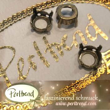 www.perltrend.com Luzern Schweiz Onlineshop Schmuck Jewellery Jewelry Design Style Schmuckdesign Fassung Rund Swarovski Crystals antik gold
