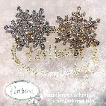 www.perltrend.com Ansteckschmuck Nadeln Broschen silberfarben crystals Schneeflocke Snowflake goldfarben Trend Schmuck Luzern Schweiz Perltrend