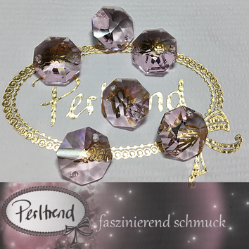 www.perltrend.com Swarovski Strass Collection Octagon Achteck Schmuck Dekoration Leuchter Lüster Chandelier Crystal rose