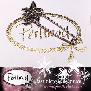 www.perltrend.com Ansteckschmuck Nadeln Broschen silberfarben Crystals Seestern antik Perltrend Luzern Schmuck