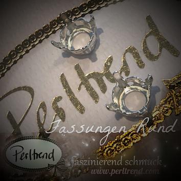 www.perltrend.com Luzern Schweiz Onlineshop Schmuck Jewellery Jewelry Design Style Schmuckdesign Fassung Rund Swarovski Crystals