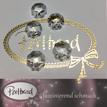 w.perltrend.com Swarovski Strass Collection Octagon Achteck Schmuck Dekoration Leuchter Lüster Chandelier Crystal