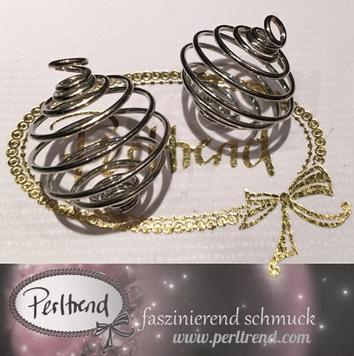 www.perltrend.com Perlen silberfarben diverse Formen Spirale Spiralen Metallperle silber platinfarben Zwischenteil deko Luzern Perltrend Schweiz Online shop basteln Schmuck Schmuckverarbeitung