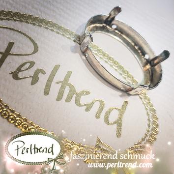 www.perltrend.com Luzern Schweiz Onlineshop Schmuck Jewellery Jewelry Design Style Schmuckdesign Fassung oval Swarovski Crystals versilbert silberfarben