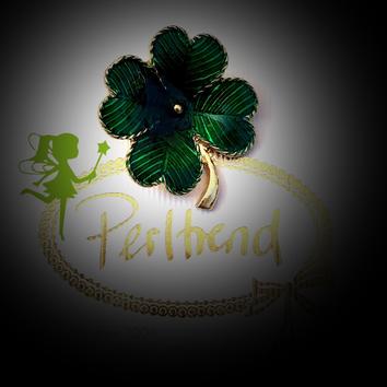 www.perltrend.com Broschen grün  Trend Brooch Schmuck Jewellery Jewelry Ansteckschmuck Perltrend Luzern Schweiz Onlinesho