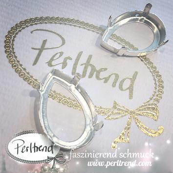 www.perltrend.com Luzern Schweiz Onlineshop Schmuck Jewellery Jewelry Design Style Schmuckdesign Fassung Tropfen Swarovski Crystals versilbert silberfarben