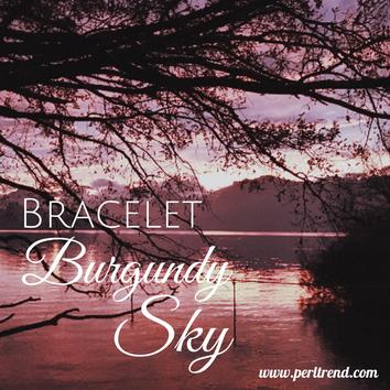 www.perltrend.com Armschmuck Armband Armkette Bracelet Burgundy Sky Grauquarz