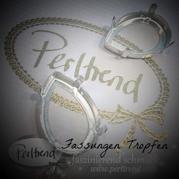 www.perltrend.com Luzern Schweiz Onlineshop Schmuck Jewellery Jewelry Design Style Schmuckdesign Fassung Tropfen Swarovski Crystals versilbert silberfarben gold antik goldfarben