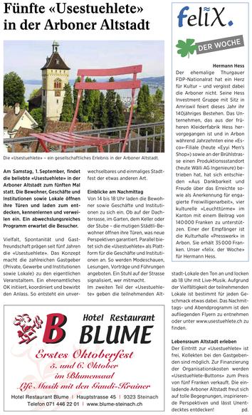 Wochenzeitung felix, 31.08.2018