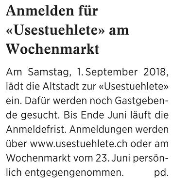Wochenzeitung felix, 22.06.2018