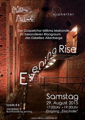 Konzert millima mabonde Chor plakat eiskeller altenberge