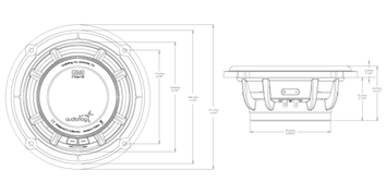 Skizze Maße GS60 Audiofrog