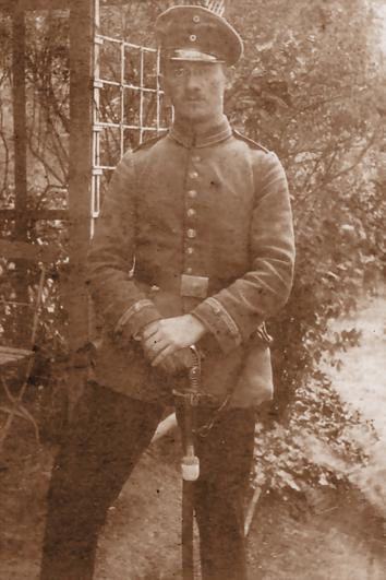 Der Offizier Hanns Heinen in Verdun, 1917