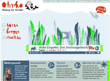 Homepage: Ohrka Hörbücher