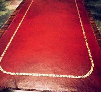 History - Conti Borbone - Leather insert for desk