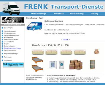 Mietfahrzeuge für Transporte