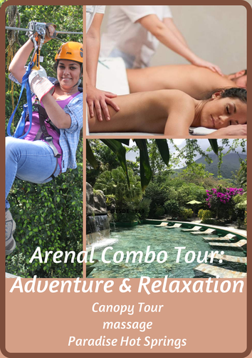 Combine Adventure and relaxation. La Fortuna Arenal one day package