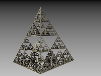 Sierpinksi Pyramide - gerendert mit Mandelbulb 3D