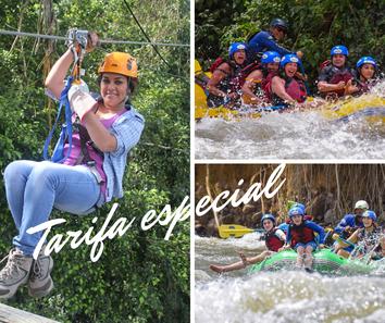 Combo Rafting La Fortuna & Arenal Canopy tour Tirolesas
