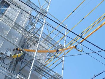 足場工事感電対策保護カバー