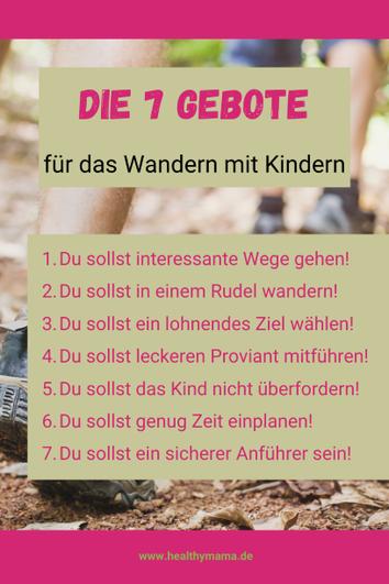Die 7 Wandergebote fürs Wandern mit Kindern