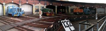 Im Eisenbahnmuseum Chemnitz, Ringlokschuppen