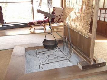 珍しい囲炉裏の部屋