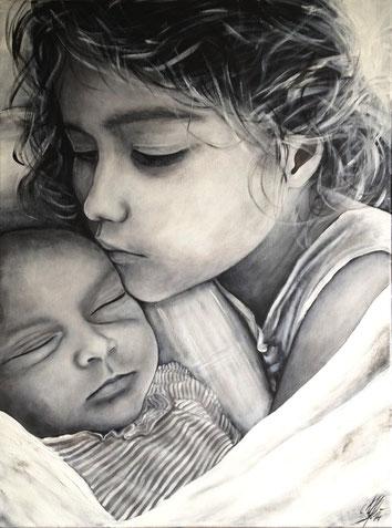"""""""Silent Love"""", 2014, acrylic on canvas, 60x80"""