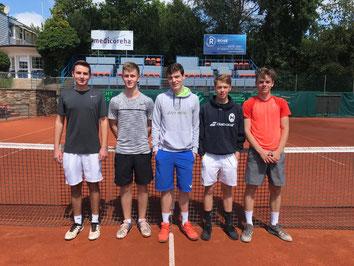 v.l. Johannes Brügge, Lennart Blümel, Simon Severing, Paul Havenstein, Florian Schuh