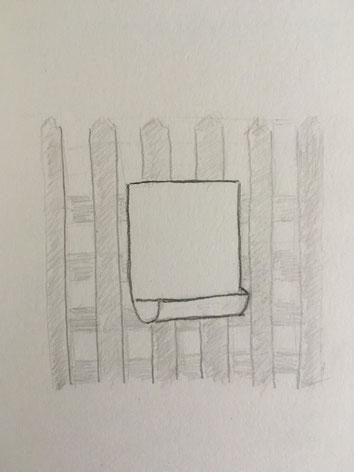 Urin Auffangsbehälter, Zeichnung