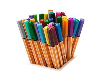 Caja de rotuladores de colores