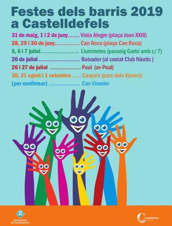 Fiestas en Castelldefels Barrio Vista Alegre
