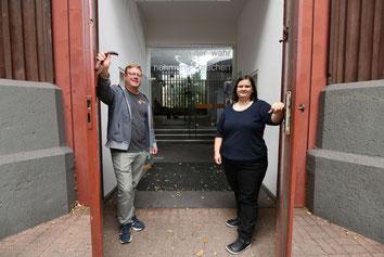 Stephan Markgraf und Jessika Ammerschuber machen am 20. August die Türen von Tabgha weit auf. (Foto: Oliver Müller / Bistum Essen)