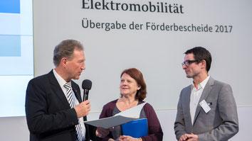 Norbert Barthle,MdB; Annette Sawade, MdB und Klaus Huber