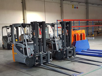 Bcube's forklifts at Ostende Airport are ready to start working