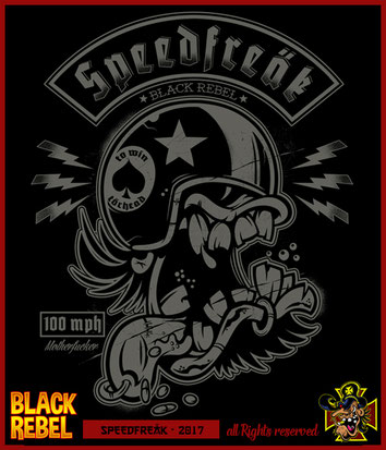 Black Rebel Art T-Shirt half-baked Kulture Kustom Kultre Weirdo Rocker Stuff