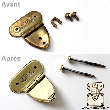 repair Louis Vuitton lock hasp expert Paris malle2luxe