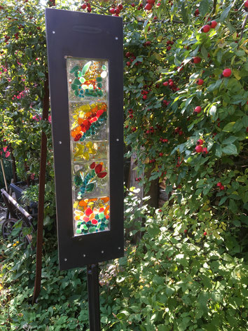 outdoor sculpture, Dekosäule, Metallstele für Außen, Geschenk