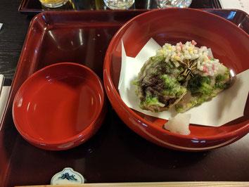 海苔揚げ(蓮根、薩摩芋、椎茸)、扇昆布