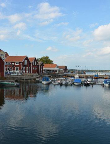Öregrund, eine der wunderschönen, für Schweden so typischen kleinen Ortschaften an der Ostsee